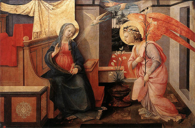 The Annunciation. (Public domain.) Let's face it: if Dr. Phil had existed a couple thousand years ago, Mary would have been on his show.