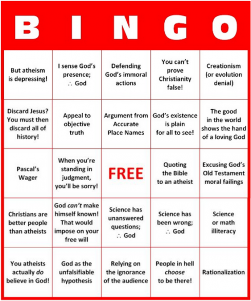 Christian movie bingo