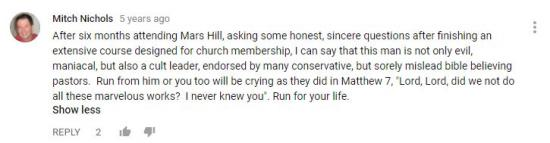 comment about mark driscoll