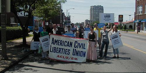 the ACLU at pridefest 4, 2003