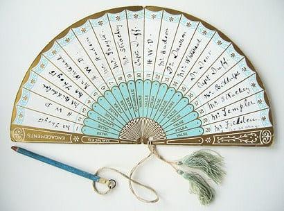 a cute dance card made up like a folding fan