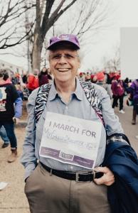 grandpa marches for granddaughter