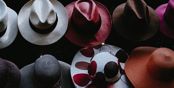 rows of fedoras and hats