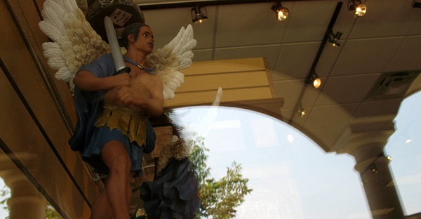 avenging angel statue