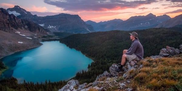 peaceful lake in banff canada eh