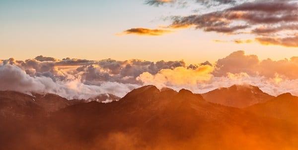peaceful mountain scene