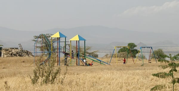 a playground in the rift valley