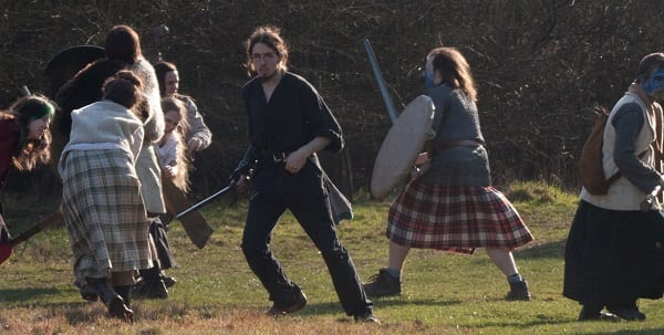 larpers having fun outside in the fresh air