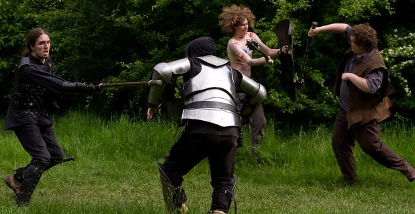 LARPers having some good clean family fun