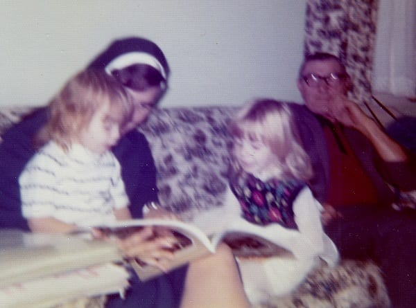 my aunt the nun reading to me and my sister