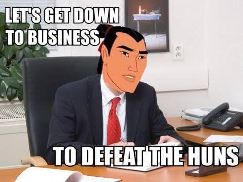 let's get down to business/to defeat the huns