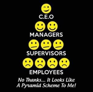a hun misunderstands what a pyramid scheme is