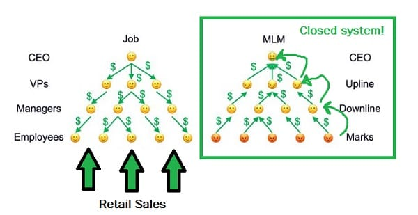 the real money flow in an MLM