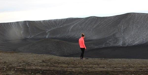 a barren landscape in iceland