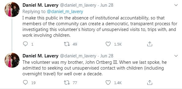 daniel lavery reveals john ortberg scandal