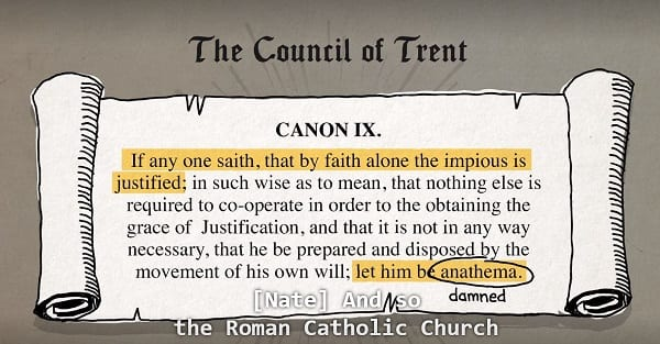 american gospel condemns the council of trent