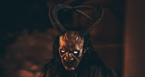 a leering demon krampus for bernice krueger
