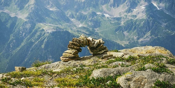 atheist overreach as a precarious rock arch
