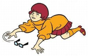 velma looking for her glasses