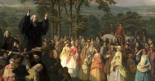 jonathan edwards preaching at the first great awakening