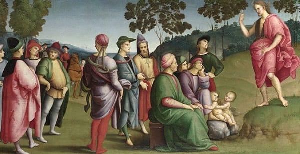 saint john preaching to disinterested italians