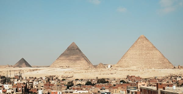 pyramids in egypt. not shown: the river denial