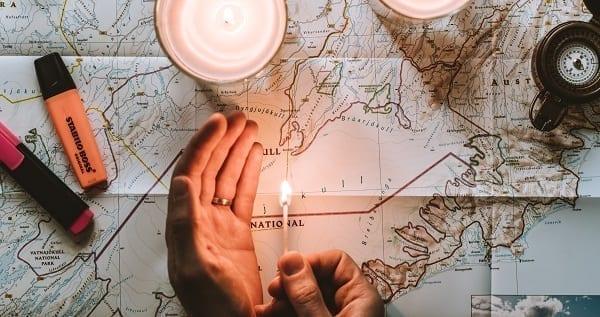the map through reality runs through iceland apparently