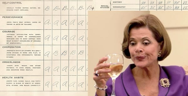 lucille bluth is going to be grading us!