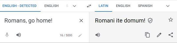 romans, go home! done right
