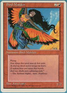 bird maiden, magic card