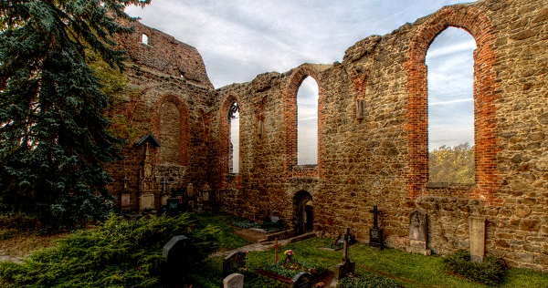 a ruined ex-church in germany