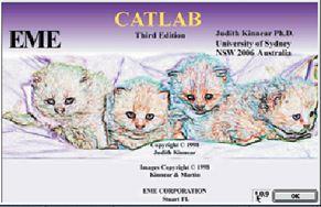 catlab splash screen showing cute kittens