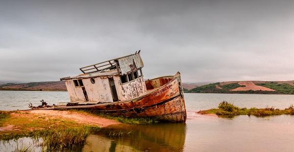 a shipwreck all right