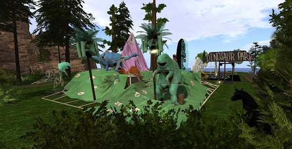 a dinosaur park in second life