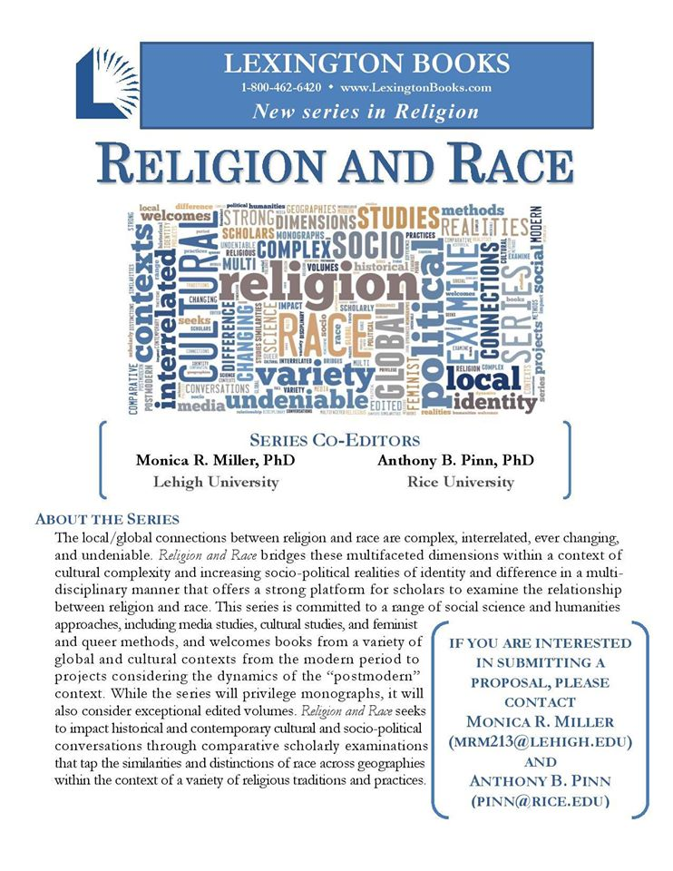 New Book Series: Religion and Race   Andre E  Johnson