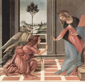 """Annunciation"" by Sandro Botticelli"