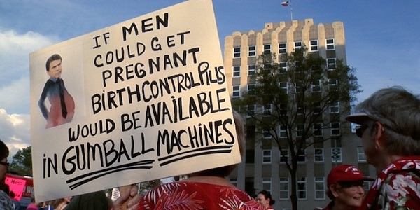 Protesting abortion restrictions in Austin, Texas