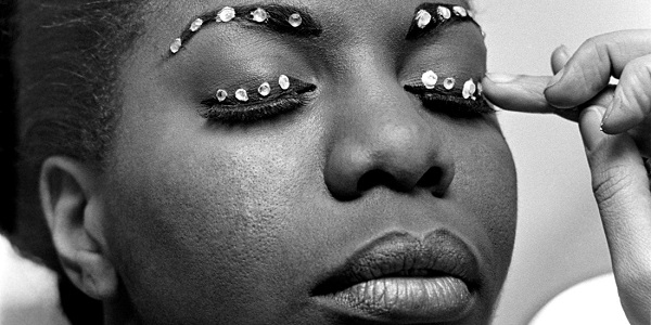 """Nina Simone, preparing for a show, in """"What Happened, Miss Simone?"""""""