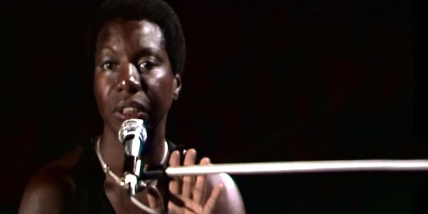 Nina Simone, performing in Montreux in 1976