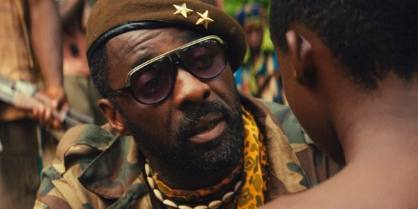"""Idris Elba as the Commandant, in """"Beasts of No Nation"""""""