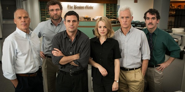 "The journalists of ""Spotlight"""