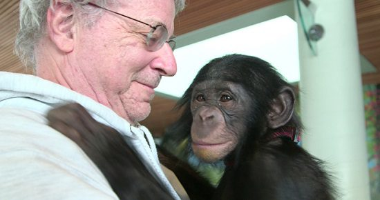 """Steven Wise with a friend, in """"Unlocking the Cage"""""""
