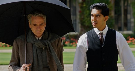 """Jeremy Irons and Dev Patel, in """"The Man Who Knew Infinity"""""""