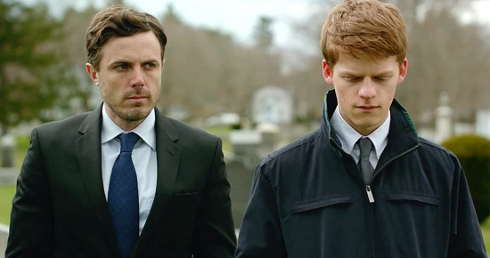 "Lee and his nephew Patrick (Lucas Hedges), in ""Manchester by the Sea"""