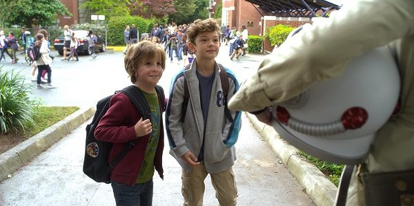 """Auggie (Jacob Tremblay) and Jack Will (Noah Jupe), in """"Wonder"""""""