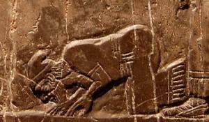 Man Kneeling, 840 BCE