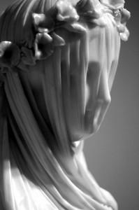 Veiled Vestal Virgin by Raffaele Monti public domain