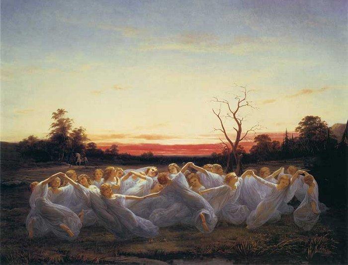 Meadow Elves by Nils Blommer, 1850