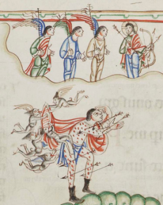 from the Eadwine Psalter possible depiction of elves