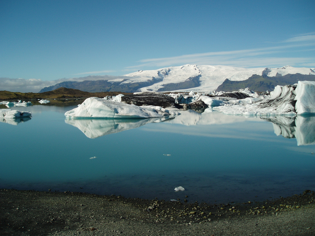 The lake at Vatnajökull, Iceland photo by Tristan Ferne